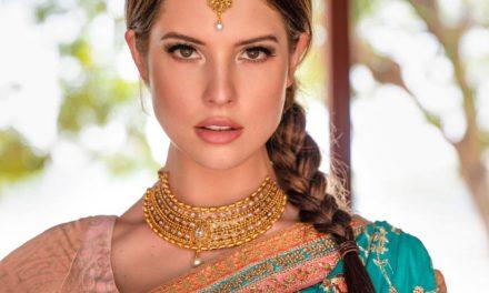 Amanda Cerny on Indian Attire to Wish Diwali