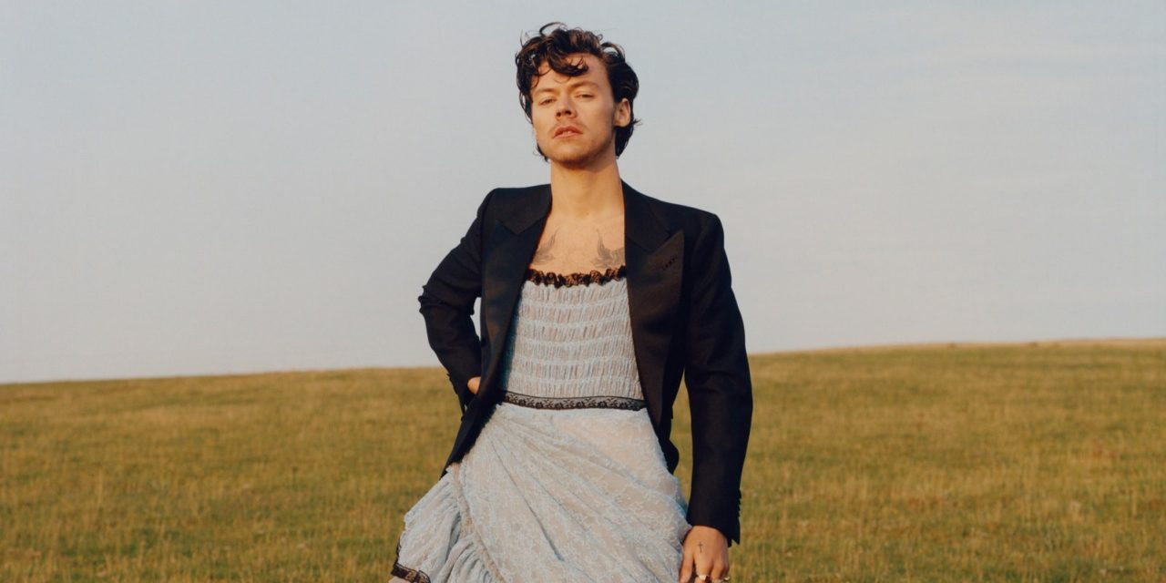 Harry Styles in a Gown on Vogue December 2020 Cover
