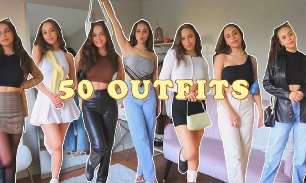 50 OUTFITS for when you have 'nothing' to wear || trendy outfits for EVERY aesthetic & season ♡