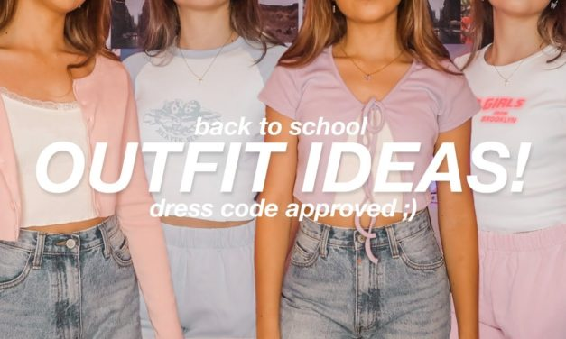 BACK TO SCHOOL OUTFIT IDEAS! cute + comfy (new)