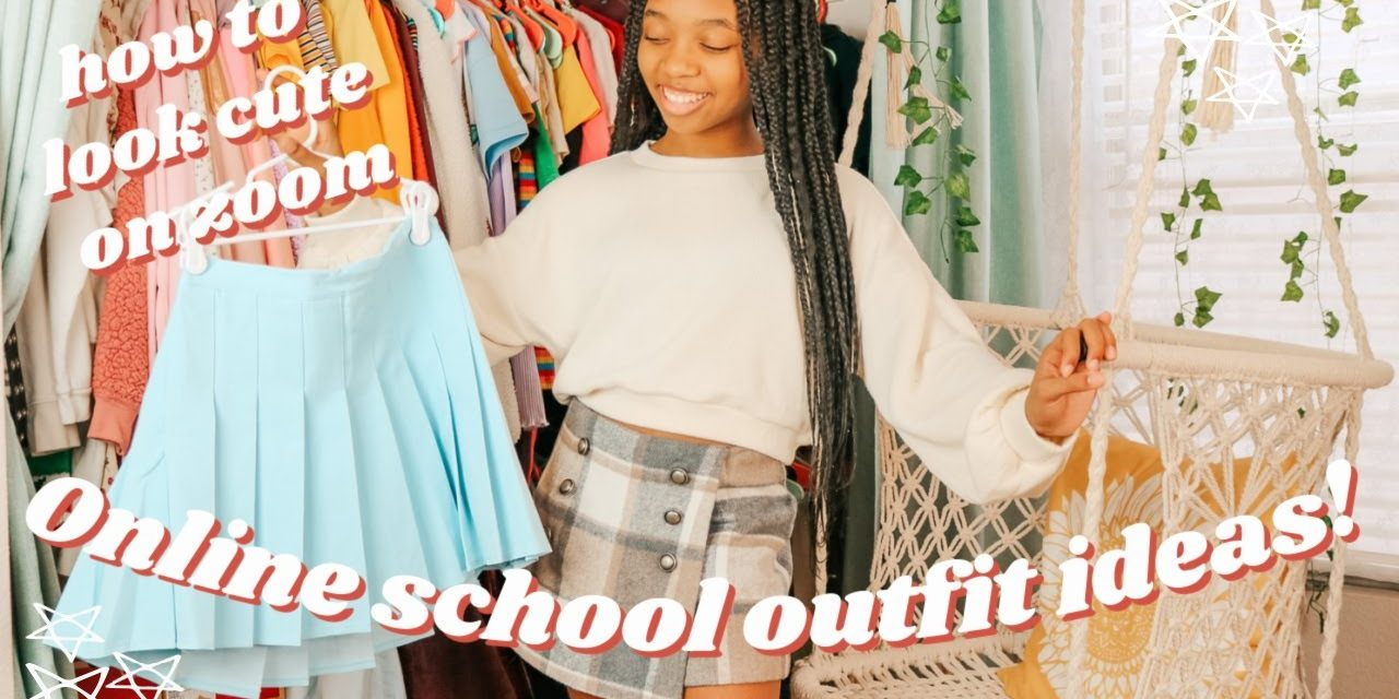 ONLINE SCHOOL OUTFIT IDEAS | how to look cute on zoom | just jordyn