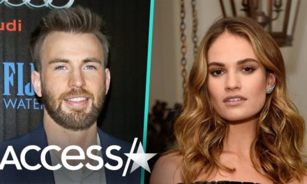 Lily James And Chris Evans