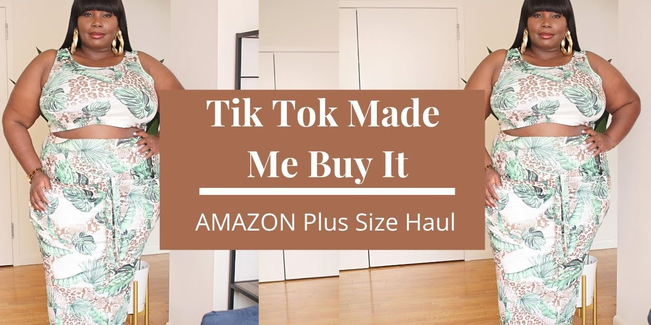AMAZON Plus Size Favorites Fashion Haul   Tik Tok Fashion Finds
