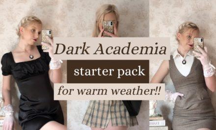 Dark Academia clothing essentials *for spring & summer*