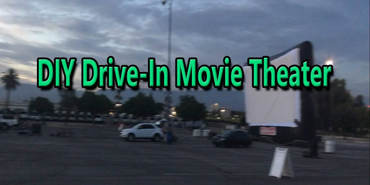 DIY Drive-In Theater [How To Make Your Own Outdoor Theater]