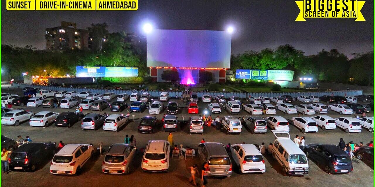 DRIVE-IN-CINEMA 📽️ | AHMEDABAD | *Movie* | Open Air Theatre