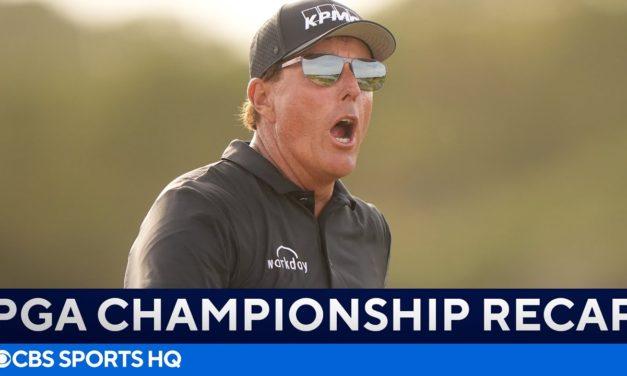 Phil Mickelson & Brooks Koepka Battle!   PGA Championship Round 2: FULL Recap   CBS Sports HQ