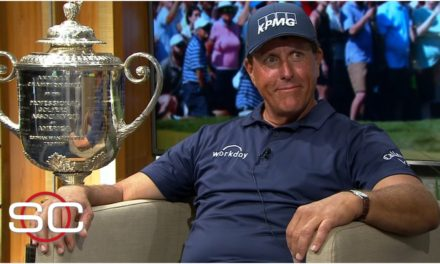 Phil Mickelson reacts to winning the PGA Championship at age 50 | SportsCenter