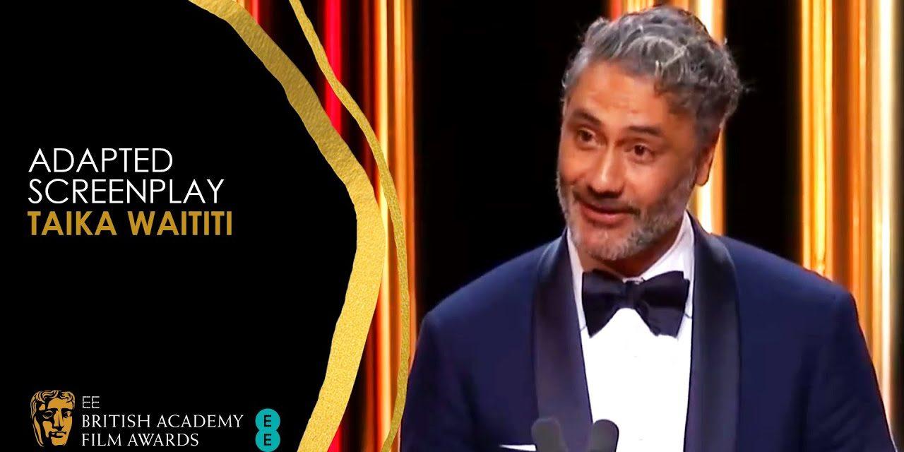 Taika Waititi's Hilarious Acceptance Speech for Jojo Rabbit's Adapted Screenplay Win   EE BAFTA Film
