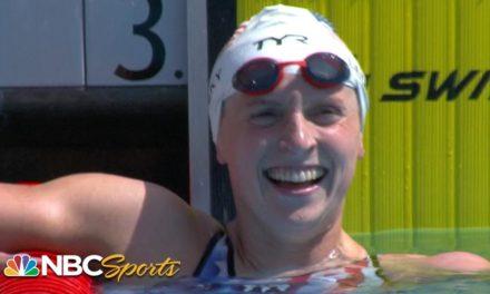 Katie Ledecky rockets to fastest 400m freestyle since 2018 in TYR Pro Swim Series win | NBC Sports