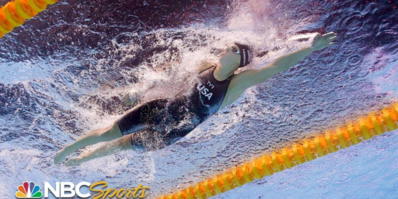 Katie Ledecky's epic comeback in final lap of the 800m freestyle – underwater camera   NBC Sports