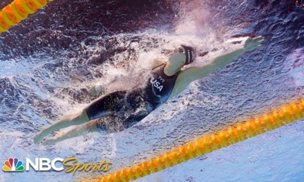 Katie Ledecky's epic comeback in final lap of the 800m freestyle – underwater camera | NBC Sports