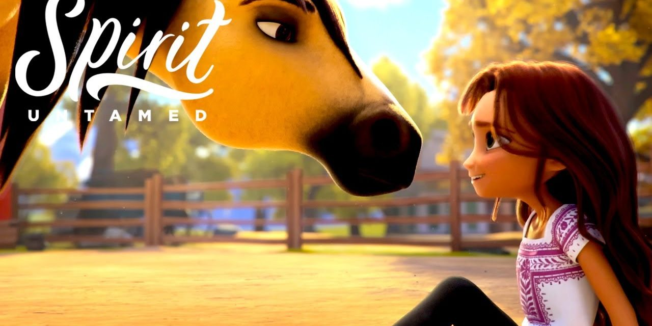 Lucky Tries to Ride Spirit for the First Time | SPIRIT UNTAMED