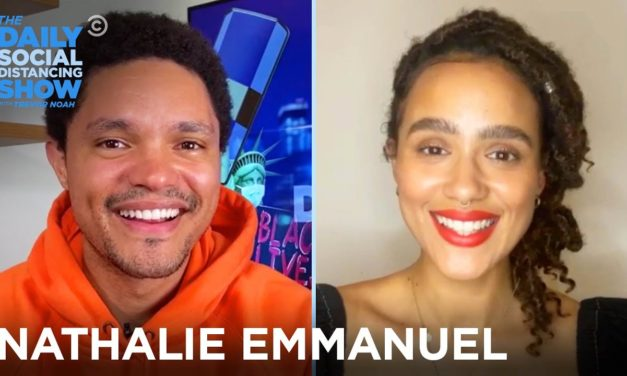 """Nathalie Emmanuel – """"Die Hart"""" & Diversity Behind the Camera   The Daily Social Distancing Show"""