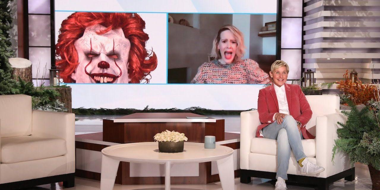 Sarah Paulson Gets a Scare Through the Screen