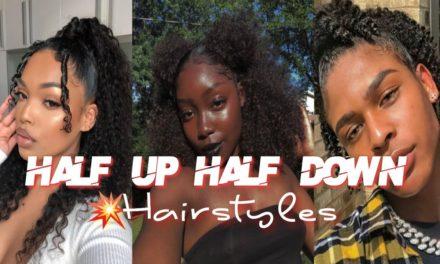 Half Up Half Down Natural Hair Style